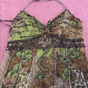 Sue Wong gorgeous green beaded dress!!